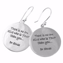 Poetic Pieces Silver Round Disc Earrings