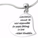 Poetic Pieces Silver Heart Pendant