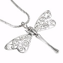Amante Silver Handmade Dragonfly Pendant