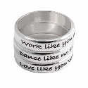 Poetic Pieces Silver 3 Band Ring