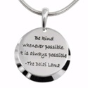 Poetic Pieces Silver Two-Disc Hammered Pendant