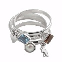 Amante Silver My Charm Harmony Ring