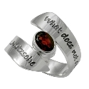 Poetic Pieces Silver Wrap Around Garnet Ring