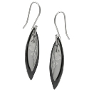 Amante Silver Black Marble Drop Earrings