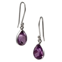 Amante Silver Small Amethyst Splendid Earrings
