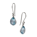 Amante Silver Small Blue Topaz Splendid Earrings
