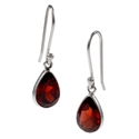Amante Silver Small Garnet Splendid Earrings