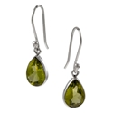 Amante Silver Small Peridot Splendid Earrings