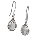 Amante Silver Quartz Crystal Splendid Earrings