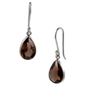 Amante Silver  Smoky Quartz Splendid Earrings