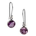 Amante Silver  Amethyst Natural Beauty Earrings