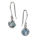 Amante Silver Blue Topaz Natural Beauty Earrings
