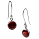 Amante Silver Garnet Natural Beauty Earrings