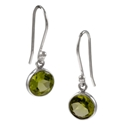 Amante Silver Peridot Natural Beauty Earrings