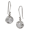 Amante Silver Large Clear Crystal Quartz Natural Beauty Earrings