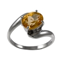 Amante Silver Citrine Simple Pleasures Ring
