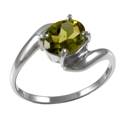 Amante Silver Peridot Simple Pleasures Ring