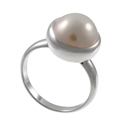 Amante Silver Sassy Pearl Ring