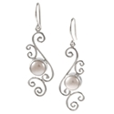 Amante Silver Contessa Pearl Earrings