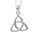 Amante Sterling Silver Small Triquetra Pendant