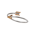 Amante Sterling Silver and Bronze Arrow Ring