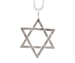 Amante Sterling Silver Hexagram Pendant