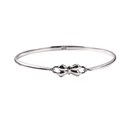 Sterling Silver Opening Baby Bow Bangle
