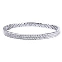 Amante Sterling Silver Swarovski Crystal Hinged Bangle