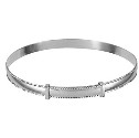Amante Sterling Silver Solid  Plain Rope Edge Expanding Bangle