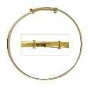 Amante 9ct Gold Children's Engraved Expanding Bangle