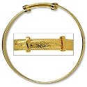 Amante 9ct Gold Solid Baby Engraved Rope Edge  Expanding Bangle
