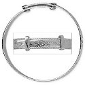 Amante Sterling Silver Baby Engraved Rope Edge  Expanding Bangle