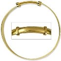 Amante 9ct Gold Solid Baby Rope Edge Plain Expanding Bangle