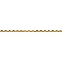 9ct Gold Fine Diamond Cut  Cable Chain Necklace-40cm