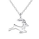 Amante Sterling Silver Reindeeer Pendant with matching Necklace