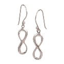 Amante Sterling Silver Infinity Drop Earrings