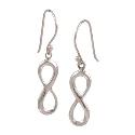 Amante Sterling Silver Infinity Drop Earrings