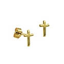 9ct Gold Children's Religious Cross Stud Earrings