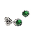 Sterling Silver May Birthstone Stud Earrings