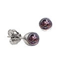 Sterling Silver June Birthstone Stud Earrings