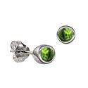 Sterling Silver August Birthstone Stud Earrings