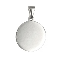 Sterling Silver  Round Engraving Pendant