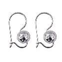 Sterling Silver 8mm Filigree Euroball Earrings