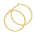 18ct Yellow Gold 30mm Hoop Earrings