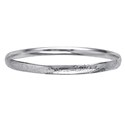 Amante Sterling Silver Solid 5.5mm Engraved Cushion Fit Bangle - 64mm