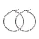 Amante Sterling Silver 30mm Twist Hoop Earrings
