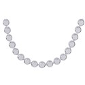 Amante Sterling Silver Italian Flat Bead Necklet