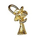 Amante Solid 9ct Gold Angel Charm Pendant