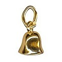 Amante Solid 9ct Gold Moving Bell Charm Pendant