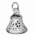 Amante Solid Sterling Silver Ringing Bell Charm Pendant